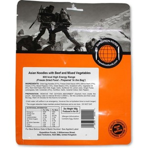 Expedition Foods - Asian Noodles with Beef and Mixed Vegetables
