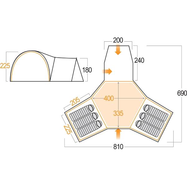 Vango Diablo 600 Xp Tent Sale Item Ss08 Outdoorkit
