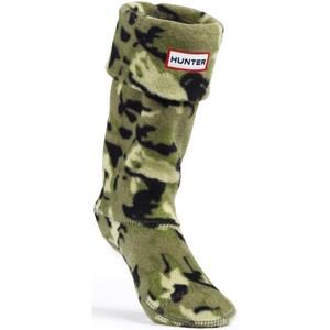 Hunter Kid's Patterned Fleece Welly Socks