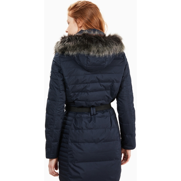 Timberland Women's Quilted Hooded Long Down Jacket ...
