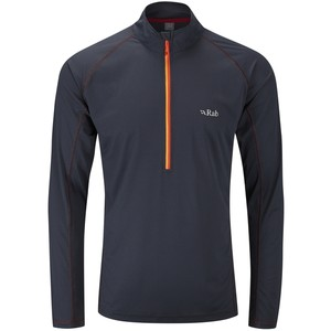 Rab Men's Interval Long Sleeve Zip Tee