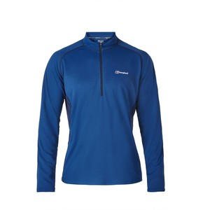 Berghaus Men's Tech Tee LS Zip Neck