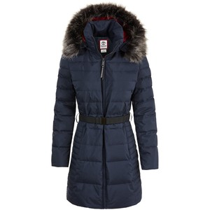 Timberland Women's Quilted Hooded Long Down Jacket